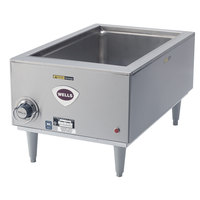 Wells SMPTD 12 inch x 20 inch Countertop Food Warmer with Drain - 120V