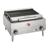 Wells B-40 24 inch Stainless Steel Electric Charbroiler with Two Control Knobs - 400V, 5400W