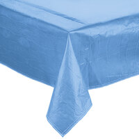 Intedge 52 inch x 52 inch Blue Vinyl Table Cover with Flannel Back