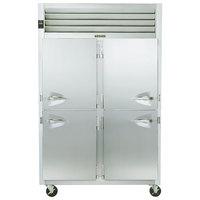 Traulsen G20006P 2 Section Solid Half Door Pass-Through Refrigerator - Right / Left Hinged Doors