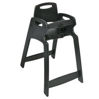 Koala Kare KB833-02-KD Black Unassembled Recycled Plastic High Chair