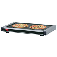 Hatco GR2S-48 48 inch Glo-Ray Black Designer Portable Heated Shelves with Black Caps - 700W