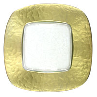 The Jay Companies 13 inch x 13 inch Square Gold Glass Charger Plate with Gold Edge