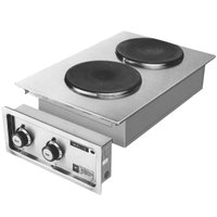 Wells H706 Drop-In 14 3/4 inch Electric Countertop Two Burner French Hot Plate - 5200W, 208/240V