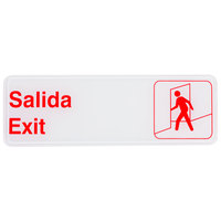 Tablecraft 394590 Salida / Exit Sign - Red and White, 9 inch x 3 inch