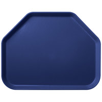 Carlisle 2214FG050 Customizable 14 inch x 22 inch Glasteel Sapphire Blue Trapezoid Fiberglass Tray - 12/Case