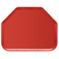 Carlisle 2214FG017 Customizable 14 inch x 22 inch Glasteel Red Trapezoid Fiberglass Tray - 12/Case