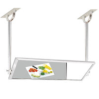 Advance Tabco MI-60 24 inch x 60 inch Ceiling Mounted Tilting Demo Mirror