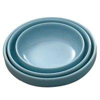 Thunder Group 1904 Blue Jade 6 oz. Round Melamine Flat Bowl - 12/Case