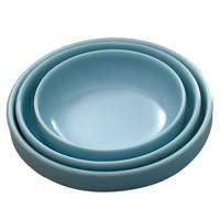 Blue Jade 6 oz. Round Melamine Flat Bowl - 12/Case
