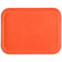Carlisle 1212FG018 Customizable 10 7/16 inch x 12 25/32 inch (26.5 x 32.5 cm) Glasteel Metric Orange Fiberglass Tray - 12/Case