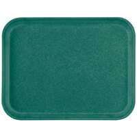 Carlisle 1212FG010 Customizable 10 7/16 inch x 12 25/32 inch (26.5 x 32.5 cm) Glasteel Metric Forest Green Fiberglass Tray - 12/Case