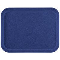 Carlisle 1212FG050 Customizable 10 7/16 inch x 12 25/32 inch (26.5 x 32.5 cm) Glasteel Metric Sapphire Blue Fiberglass Tray - 12/Case