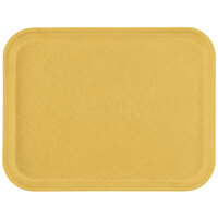 Carlisle 1212FG023 Customizable 10 7/16 inch x 12 25/32 inch (26.5 x 32.5 cm) Glasteel Metric Gold Fiberglass Tray - 12/Case