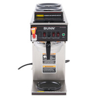 Bunn 12950.0217 CWTF15-3 Automatic 12 Cup Coffee Brewer with 2 Upper Warmers, 1 Lower Warmer, and Stainless Steel Funnel - 120V