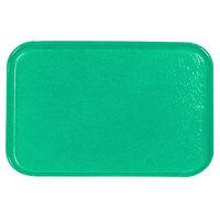 Carlisle 2115FG007 Customizable 14 3/4 inch x 20 7/8 inch (37,5 cm x 53 cm) Glasteel Metric Tropical Green Fiberglass Tray - 12/Pack