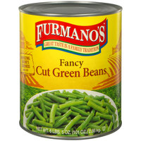 Furmano's #10 Can Cut Green Beans - 6/Case