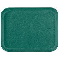 Carlisle 1212FG055 Customizable 10 7/16 inch x 12 25/32 inch (26.5 x 32.5 cm) Glasteel Metric Rain Forest Green Fiberglass Tray - 12/Case