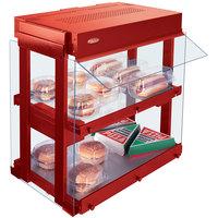 Hatco GRHW-1SGD Warm Red Dual Shelf Heated Glass Mini-Merchandising Warmer - 1330W