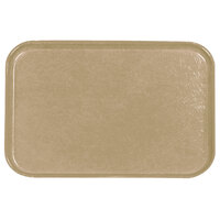 Carlisle 2115FG095 Customizable 14 3/4 inch x 20 7/8 inch (37,5 cm x 53 cm) Glasteel Metric Almond Fiberglass Tray - 12/Pack