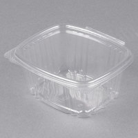 Genpak AD16 16 oz. Clear Hinged Deli Container - 100/Pack