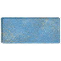Carlisle 1219LDFG029 Customizable 12 inch x 19 inch Glasteel Starfire Blue Dietary Fiberglass Tray - 12/Case