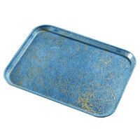 Carlisle 2216DFGQ029 Customizable 16 inch x 22 inch Glasteel Starfire Blue Fiberglass Tray - 6/Pack
