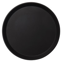 Cambro 1100CT110 Camtread 11 inch Round Black Non-Skid Serving Tray - 12/Case
