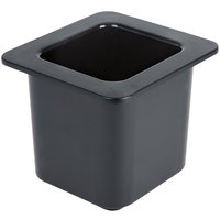 Cambro 66CF110 ColdFest 1/6 Size Black ABS Plastic Food Pan - 6 inch Deep