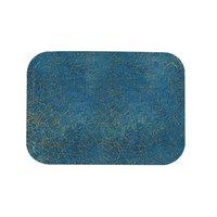 Carlisle 1212DFG029 Customizable 10 7/16 inch x 12 25/32 inch (26.5 x 32.5 cm) Glasteel Metric Starfire Blue Fiberglass Tray - 12/Case