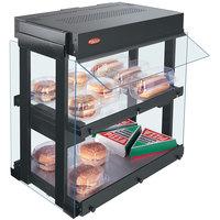 Hatco GRHW-1SGD Gray Dual Shelf Heated Glass Mini-Merchandising Warmer - 1330W