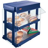 Hatco GRHW-1SGD Navy Blue Dual Shelf Heated Glass Mini-Merchandising Warmer - 1330W
