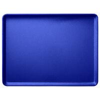 Carlisle 1419FG014 Customizable 14 inch x 19 inch (50 x 38.5 cm) Glasteel Metric Cobalt Blue Fiberglass Tray - 12/Case