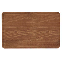 Carlisle 1216LWFG063 Customizable 12 inch x 16 inch Glasteel Wood Grain Pecan Dietary Fiberglass Tray - 12/Case