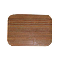 Carlisle 1212WFG094 Customizable 10 7/16 inch x 12 3/4 inch (26,5 x 32,5 cm) Glasteel Metric Wood Grain Redwood Fiberglass Tray - 12/Case