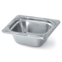 Vollrath 8262220 Miramar 1/6 Size Satin Finish Decorative Food Pan - 2 1/2 inch Deep