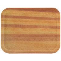 "Carlisle 1612WFG094 Customizable 12"" x 16"" Glasteel Woodgrain Redwood Fiberglass Tray - 12/Case"