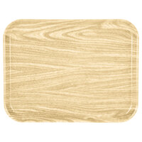 Carlisle 1410WFG065 Customizable 10 inch x 14 inch Glasteel Wood Grain Light Oak Fiberglass Tray - 12/Case