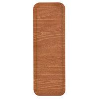Carlisle 269WFG063 Customizable Pecan 9 inch x 26 inch Glasteel Display / Bakery Fiberglass Tray - 12/Case