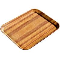 Carlisle 1222LWFG092 Customizable 12 inch x 21 inch Glasteel Wood Grain Butcher Block Dietary Fiberglass Tray - 12/Case