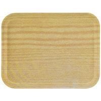 "Carlisle 1612WFG065 Customizable 12"" x 16"" Glasteel Woodgrain Light Oak Fiberglass Tray - 12/Case"