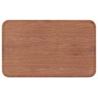 Carlisle 1220WFG063 Customizable 13 inch x 21 inch (32.5 x 53 cm) Glasteel Metric Wood Grain Pecan Fiberglass Tray - 12/Case