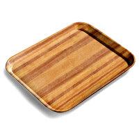 Carlisle 1216LWFG092 Customizable 12 inch x 16 inch Glasteel Wood Grain Butcher Block Dietary Fiberglass Tray - 12/Case