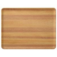 Carlisle 1418LWFG092 Customizable 14 inch x 18 inch Glasteel Wood Grain Butcher Block Dietary Fiberglass Tray - 12/Case