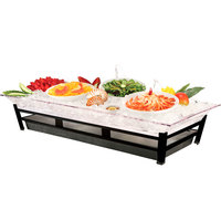 Cal-Mil IP2020-13 Large Ultimate Black Ice Housing System with Ice Pan, Water Contaminant Unit, and LED Lighting - 24 inch x 48 inch x 10 inch