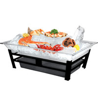 Cal-Mil IP1020-13 Large Ultimate Black Ice Housing System with Ice Pan, Water Contaminant Unit, and LED Lighting - 19 inch x 27 inch x 8 inch