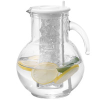 Cal-Mil JC100 2 qt. Glass Pitcher with Ice Chamber