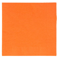 Choice 10 inch x 10 inch Orange 2-Ply Beverage / Cocktail Napkins - 250/Pack