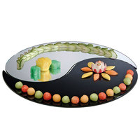 Cal-Mil PT155 15 inch Yin Yang 2 Piece Mirror Tray Set