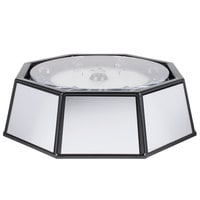 Cal-Mil IP501-110 24 inch x 14 inch Rotating Ice Carving Mirror Pedestal with Drainage Hose and 110V LED Lighting